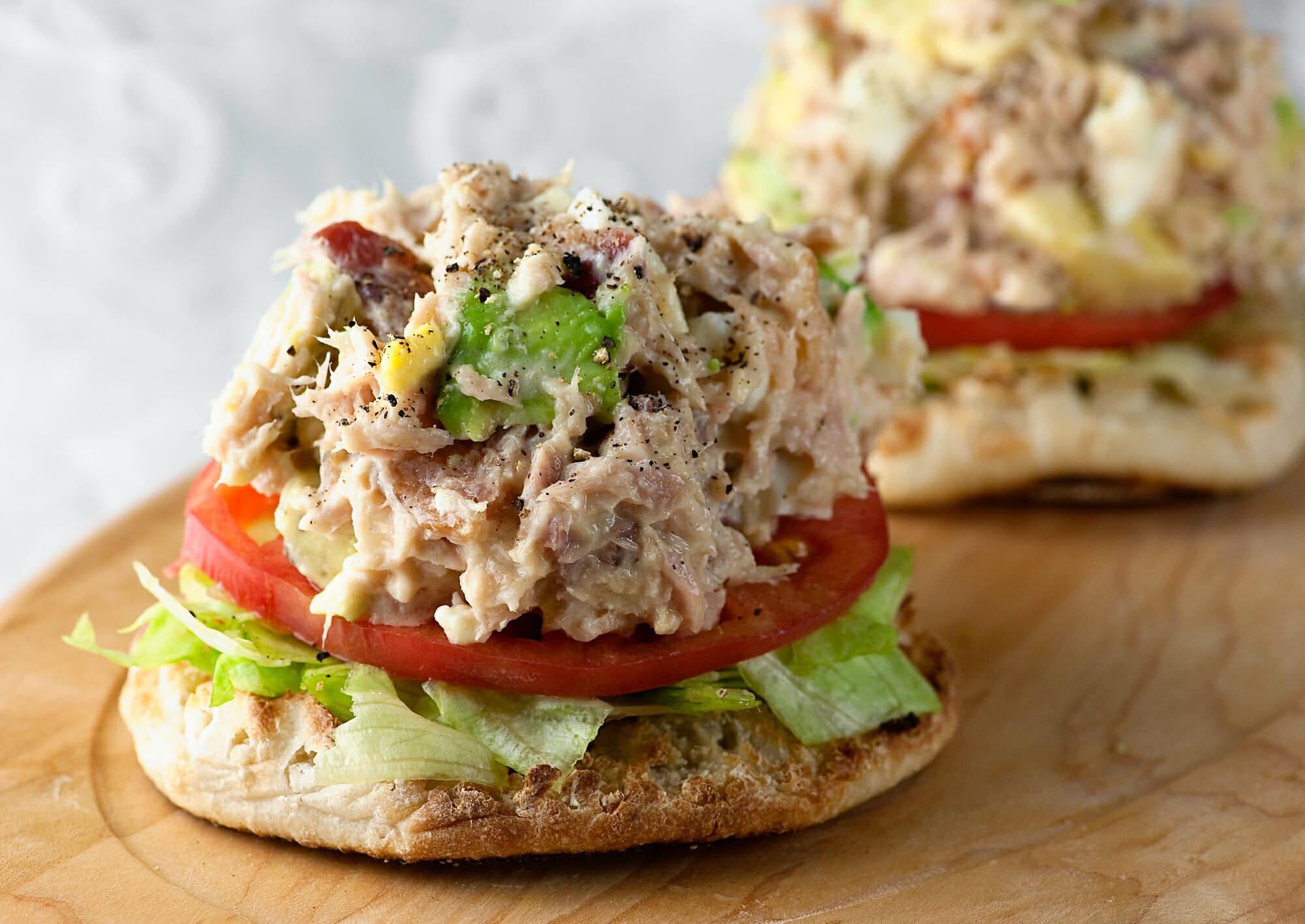 tuna cobb salad sandwich