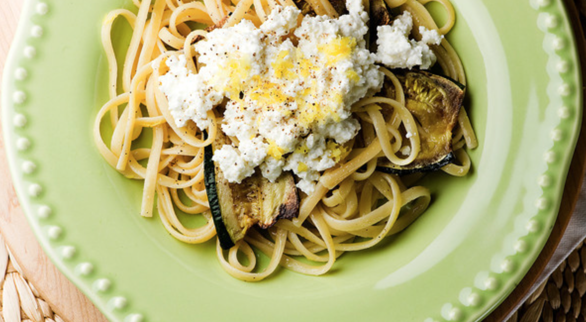Zucchini Pasta with Ricotta - Framed Cooks