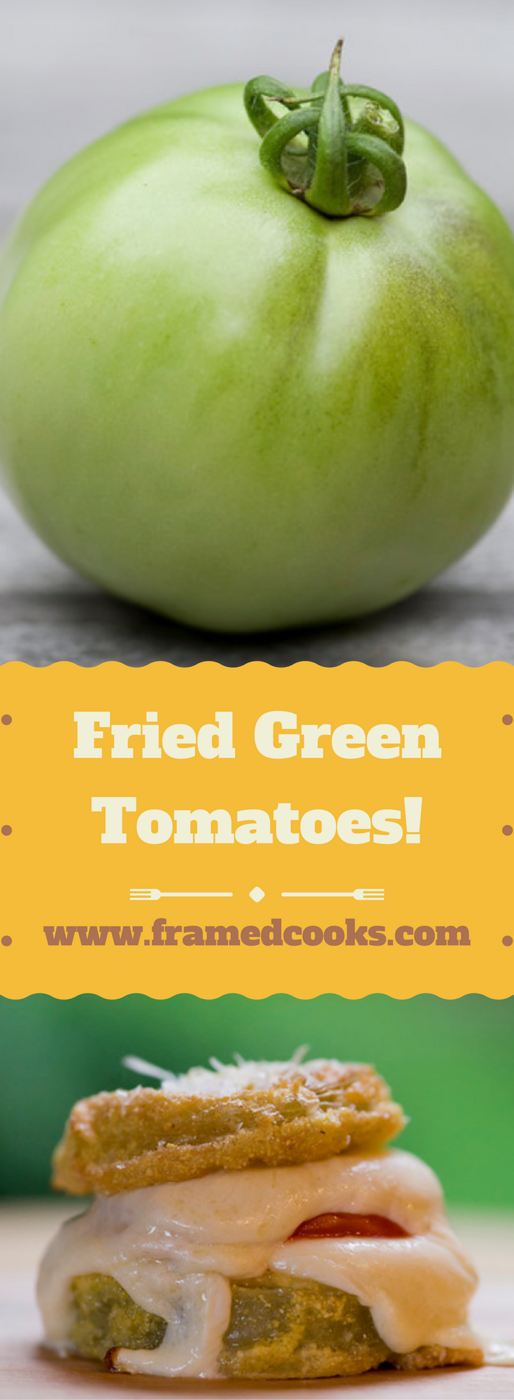The classic fried green tomatoes recipe meets mozzarella cheese in a side dish that is good enough to be dinner all on its own!