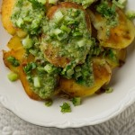 Crispy Potato Salad with Chimichurri Sauce