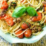 Roasted Tomato and Anchovy Oreganata Pasta
