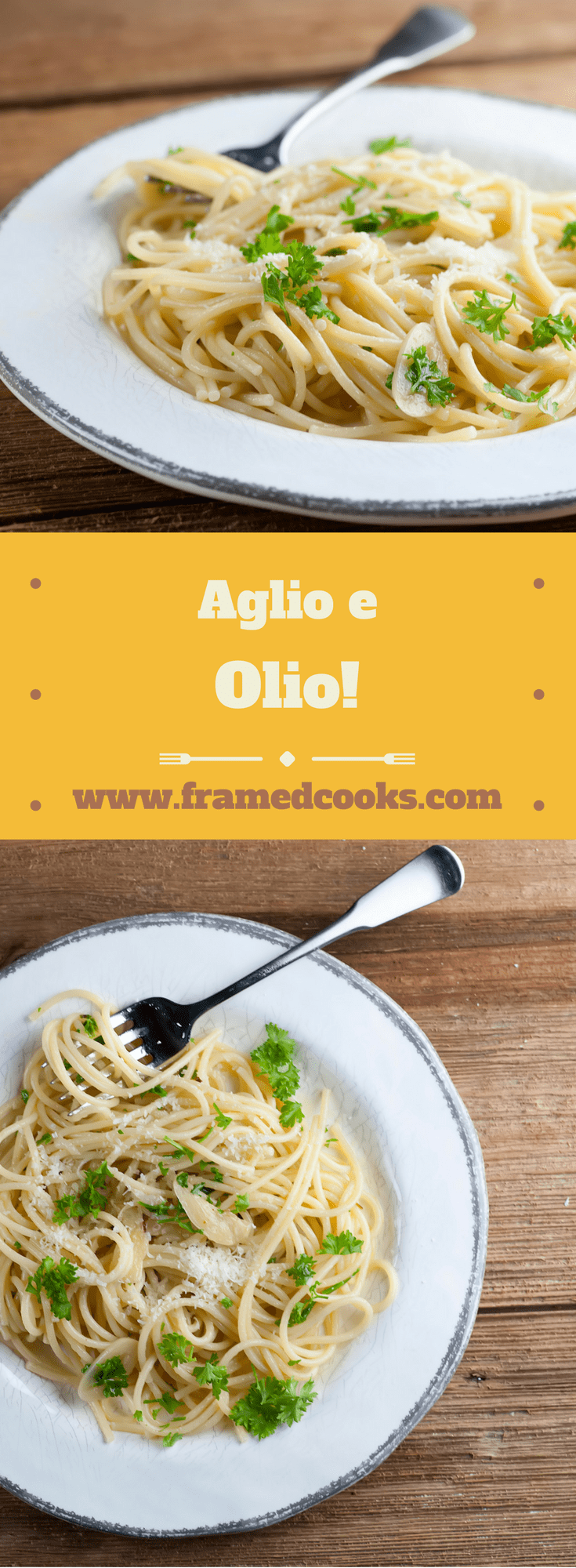 This easy recipe for aglio e olio, otherwise known as pasta with lots of garlic and olive oil, is the perfect supper for busy nights!