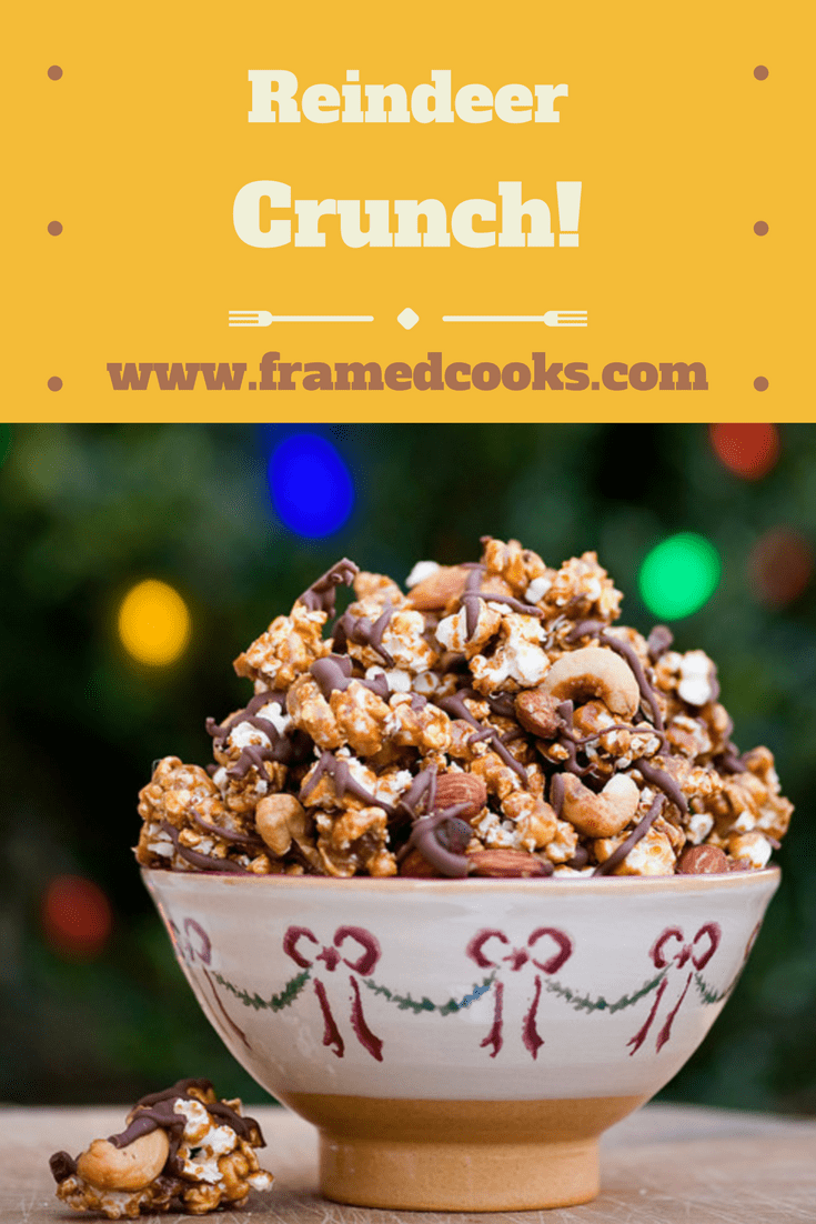 This recipe for reindeer crunch is the perfect easy, sweet and salty gift from your holiday kitchen!  And don't forget to make a batch for yourself.