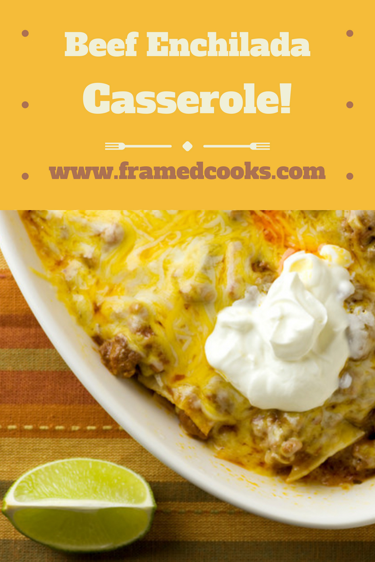 This easy recipe for beef enchilada casserole uses your microwave to cook up this spicy, cheesy supper in no time flat! Perfect for families on the go.