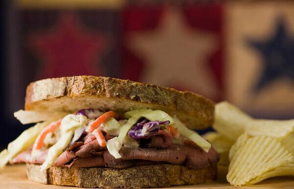 Roast Beef and Horseradish Coleslaw Sandwiches