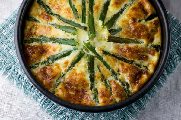 Asparagus and Ham Oven Frittata - Framed Cooks