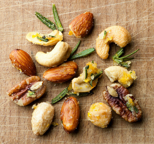 Buttered Rosemary Orange Nuts