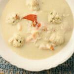 Cauliflower Soup with Lobster Dumplings