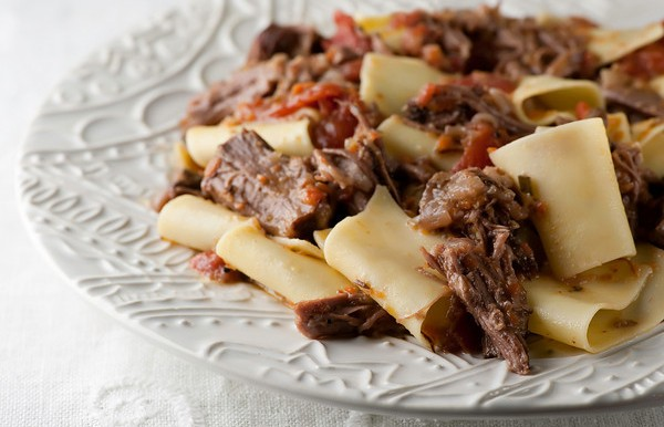 Shredded Short Ribs with Pappardelle