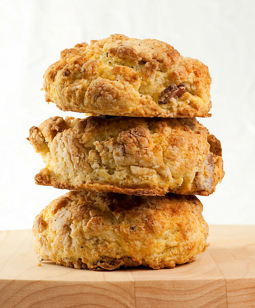 Bacon Buttermilk Biscuits - Framed Cooks