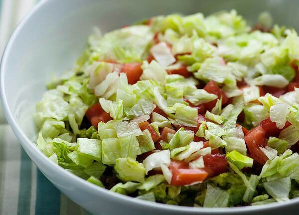 Mexican Salad with Lettuce