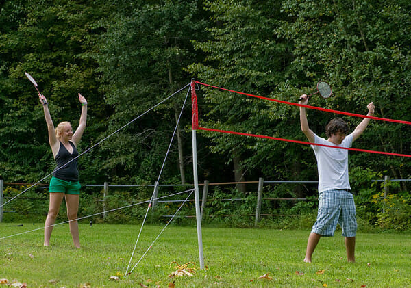 Badminton win