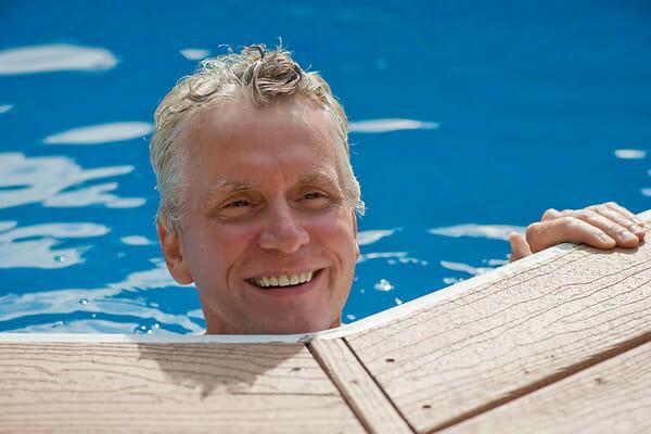 Bruce in pool