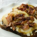 Goat Cheese Sandwiches with Bacon and Pears