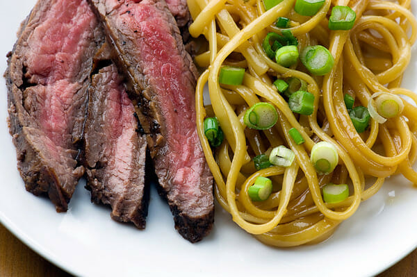 Teriyaki Steak and Sesame Noodles