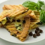 Chocolate Brie and Basil Panini