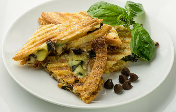 Chocolate Brie and Basil Panini - Framed Cooks