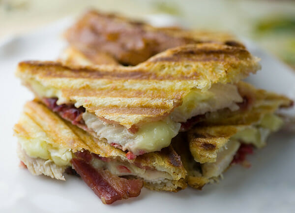 Turkey, Cranberry, Brie and Bacon Panini - Framed Cooks