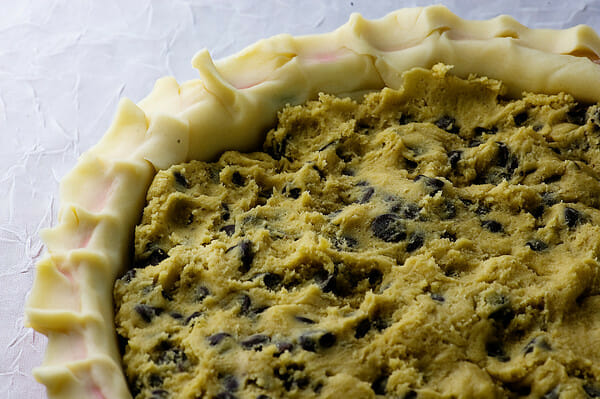 pie crust with cookie dough