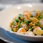 Shrimp Barley Risotto with Peas