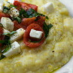 Polenta with Tomatoes and Mozzarella
