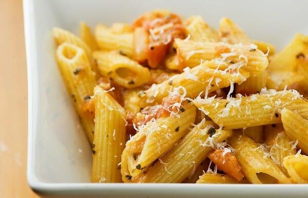 Penne with Gorgonzola Tomato Sauce