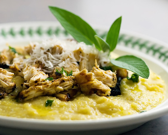 Polenta With Shredded Chicken, Fontina, And Sage Butter ...
