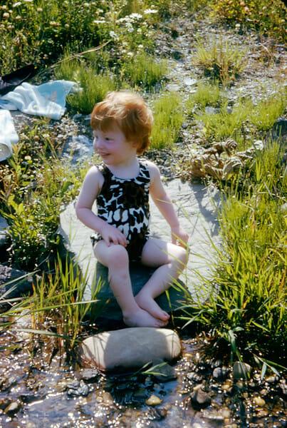 toddler in bathing suit