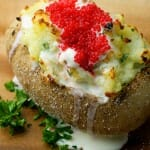 Baked Potatoes with Caviar