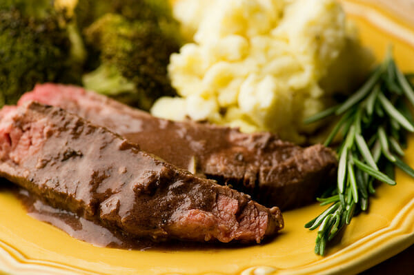 Rosemary Merlot Flank Steak Recipe — Dishmaps