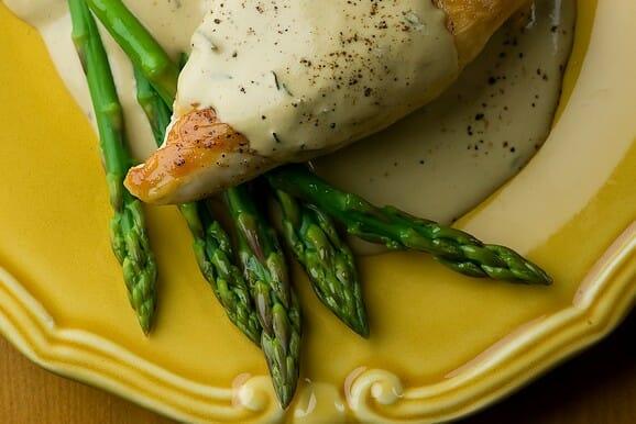 Chicken with Mustard Wine Cream Sauce