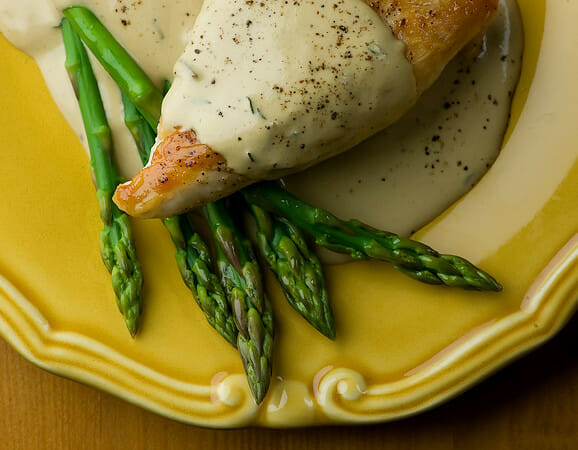 Chicken with Mustard Wine Cream Sauce