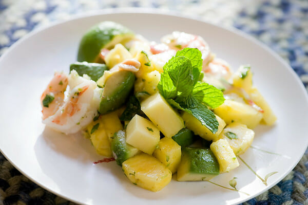 Asian Shrimp, Pineapple and Peanut Salad