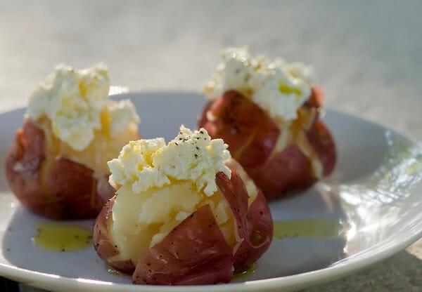 lemon ricotta potatoes