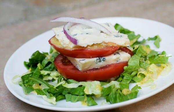 Tomato Blue Cheese Napoleons