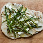 Grilled Asparagus Ricotta Pizza