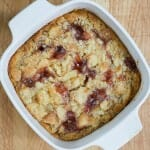 Jelly Donut Bread Pudding