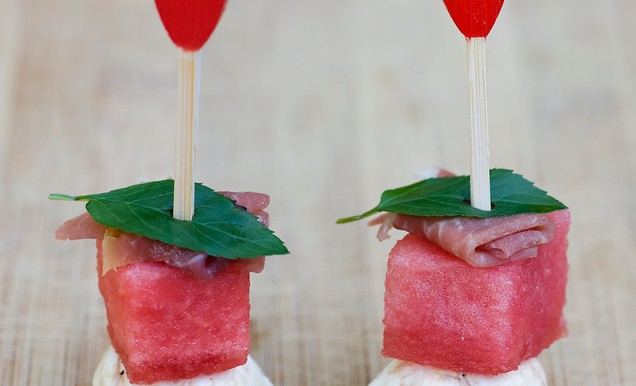 Watermelon and Cheese Bites