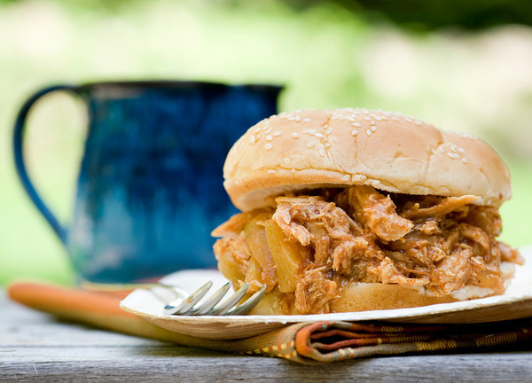how to make Hawaiian Barbecue Pulled Chicken Sandwiches
