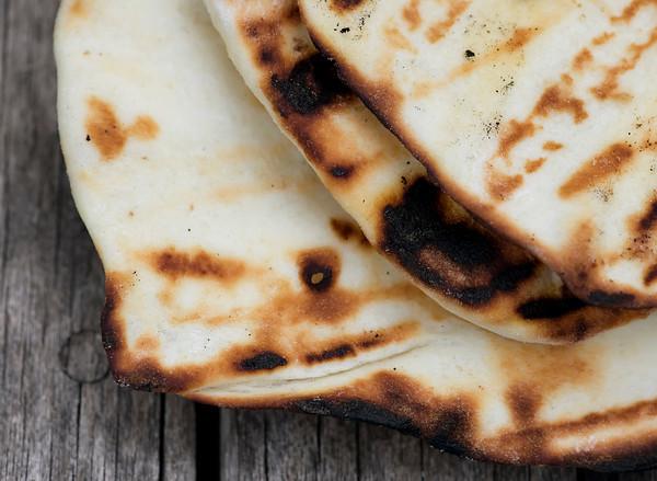 grilled Lebanese flatbread