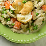 Creamy Slow Cooker Chicken with Biscuits