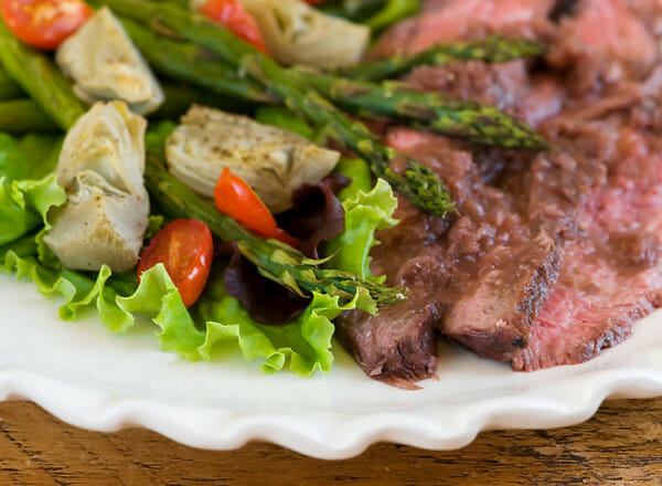Grilled Rosemary Merlot Flank Steak - Framed Cooks