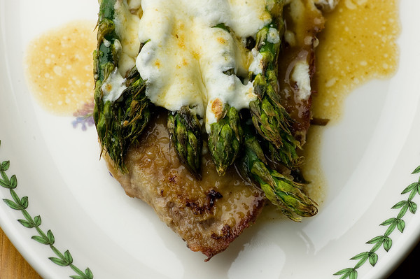 Veal Scallopine with Asparagus Recipe- Framed Cooks