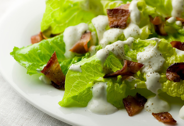 Creamy Roquefort and Warm Bacon Dressing
