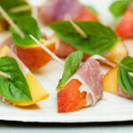 Spiced Peaches with Serrano Ham and Basil