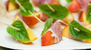 spiced peaches with basil