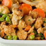 Turkey Pot Pie with Savory Crumble Topping