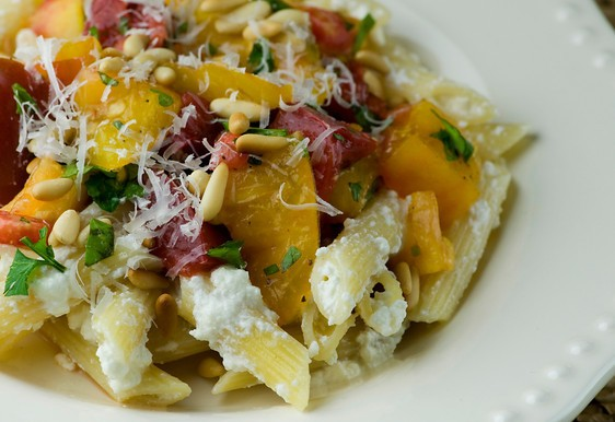 Pasta with Heirloom Tomatoes