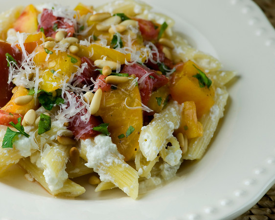 Pasta with Heirloom Tomatoes - Framed Cooks