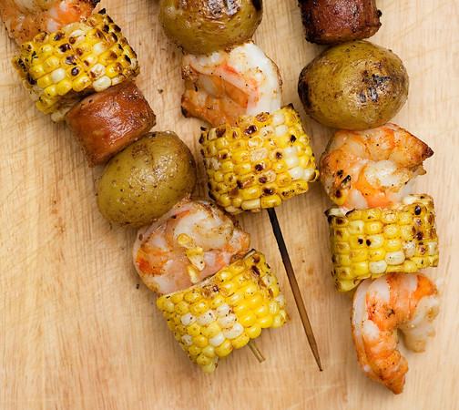 Low Country Boil Kabobs - Framed Cooks